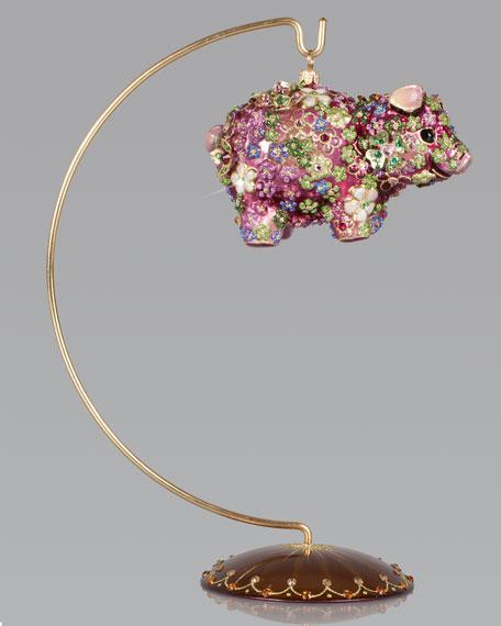Blossom Pig Christmas Ornament