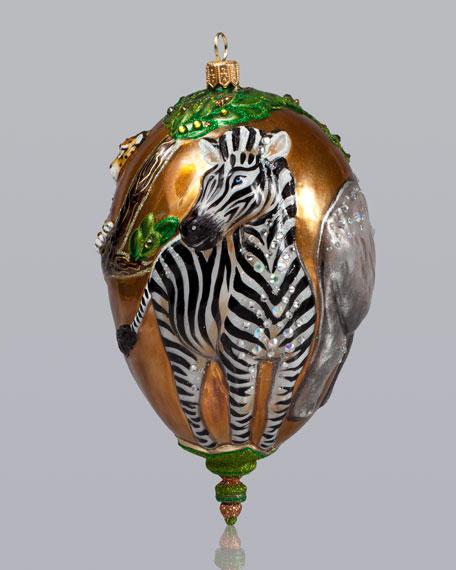 Jungle Scene Christmas Ornament