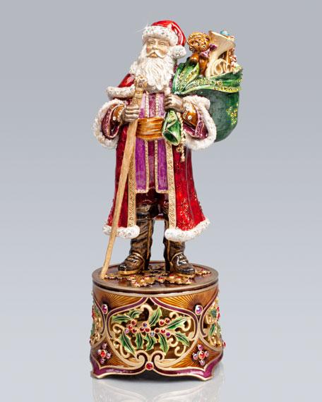 Victorian Santa Musical Figurine