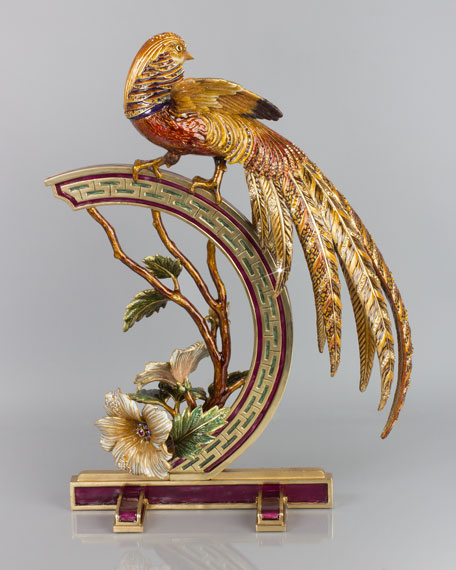 Golden Pheasant Figurine