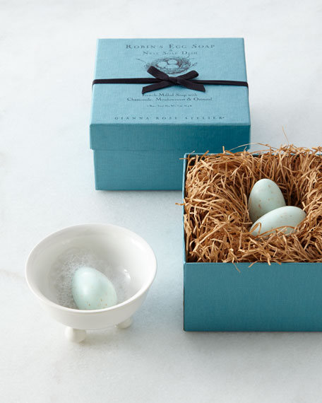 Robin's Egg Soaps with Dish