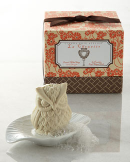 GIANNA ROSE ATELIER Owl Soap with Leaf Soap Dish