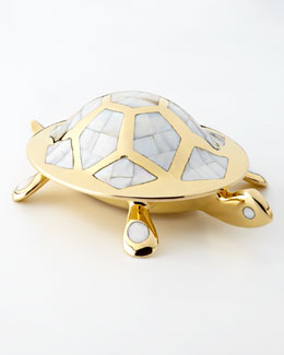 Jonathan Adler Brass Turtle Box