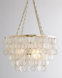 Aurora Capiz Shell Golden Chandelier