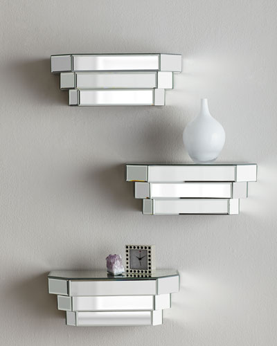 Neimanmarcus Mirrored Step Shelf