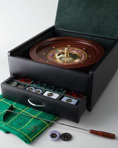 Renzo Romagnoli Italian Leather Roulette Set