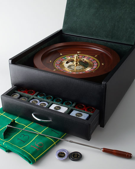 Italian Leather Roulette Set