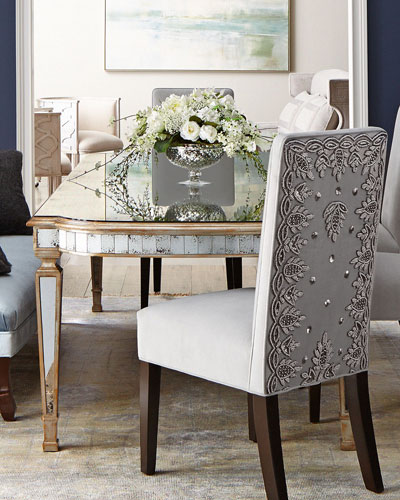 John-Richard Collection Eliza Mirrored Dining Table