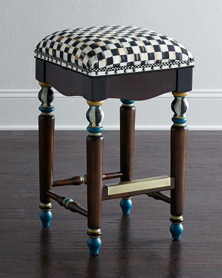 MacKenzie-Childs Courtly Check Barstool