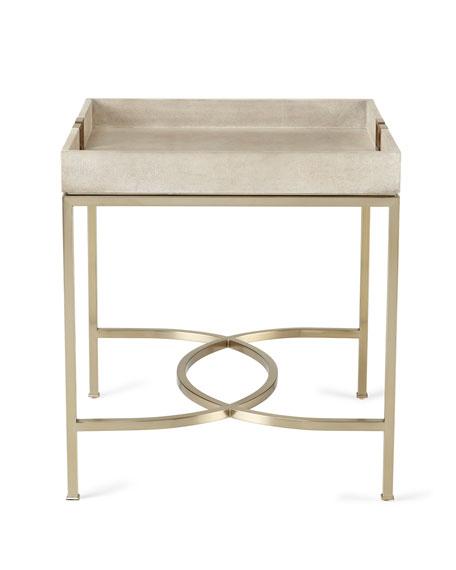 Shagreen Coffee Table Tray: Bernhardt Olita Tray Side Table