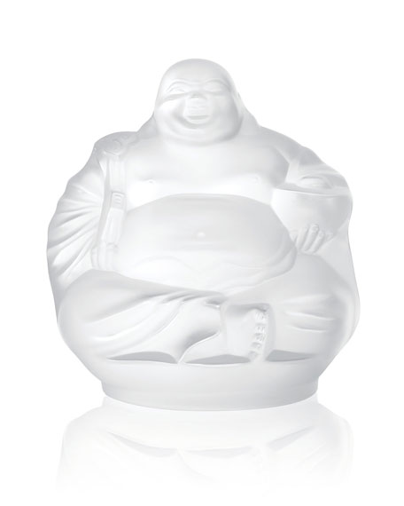 Lalique Happy Buddha Figurine