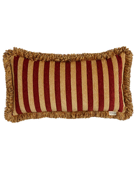 """Bellissimo Pieced Pillow with Fringe, 13"""" x 24"""""""