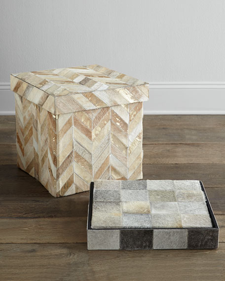 Herringbone Storage Cube