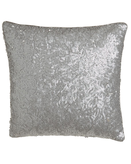 "Allover-Sequin-Front Pillow, 16""Sq."