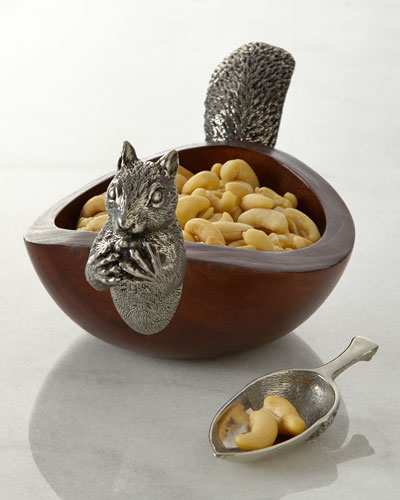 Vagabond House Squirrel Nut Bowl with Scoop