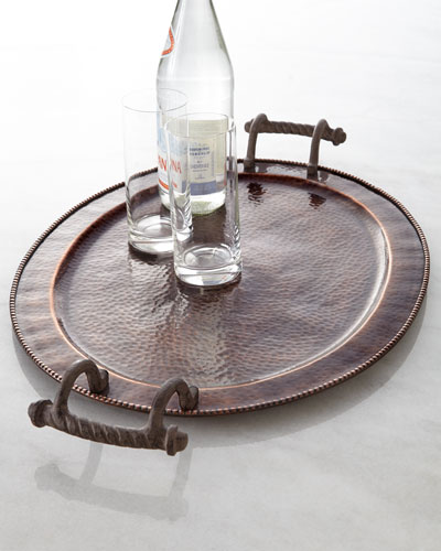 "GG Collection Large Oval ""Antique Copper"" Tray"