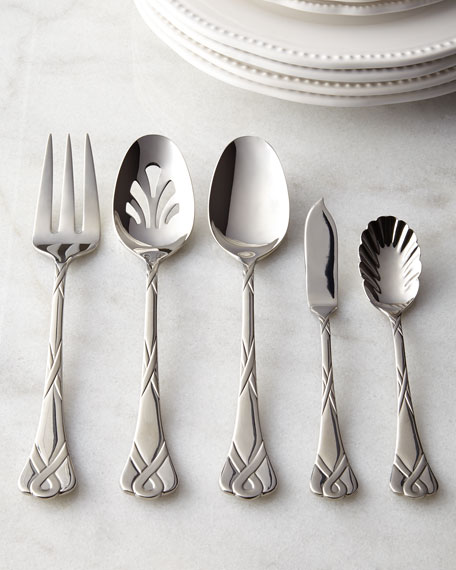 45-Piece Ribbon Frost Flatware Service