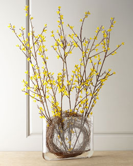 John-Richard Collection Faux Forsythia Arrangement