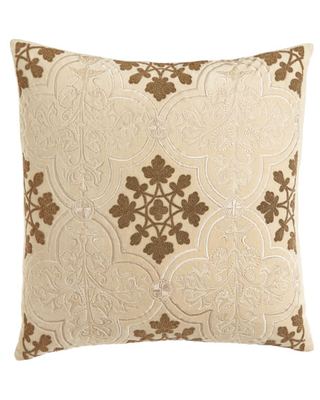 Callisto Home Como Beaded Velvet Pillow, 22
