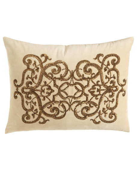 Callisto Home Como Sequined Velvet Pillow, 20