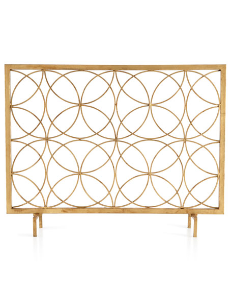 Venn Circles Fireplace Screen