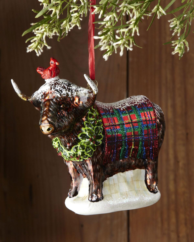 Highland cow ornament
