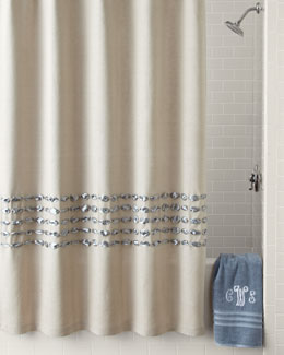 Shower curtains designer shower curtains neiman marcus for Bathroom decor ross