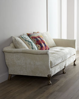 "Old Hickory Tannery ""Ginger Fiesta"" Sofa"
