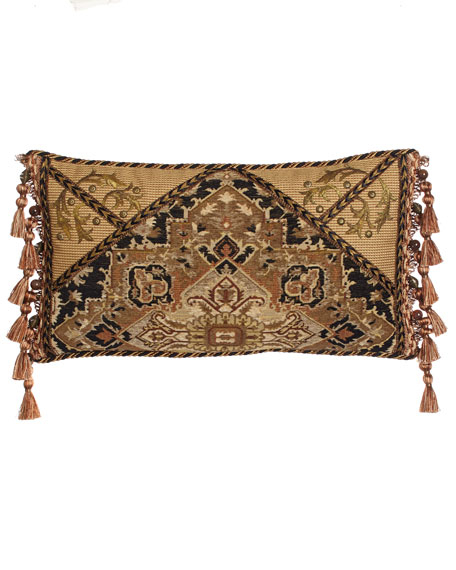 "Casablanca Envelope Pillow with Side Tassels, 23"" x 13"""