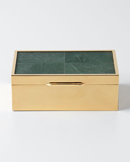 AERIN Small Jade Decorative Box
