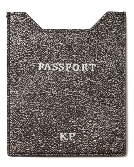 Glitter-Leather Passport Sleeve