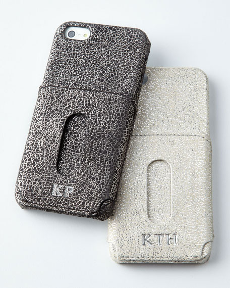 Glitter-Leather iPhone 5/5s Shell