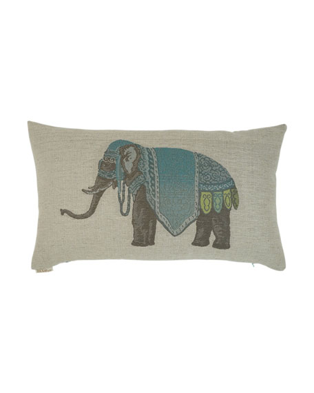 Azure Elephant Pillow
