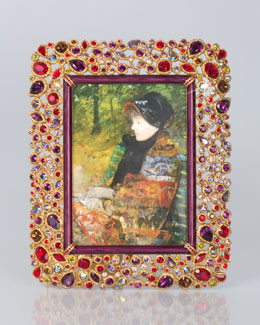 """Jay Strongwater Javier Bejeweled 5"""" x 7"""" Frame"""