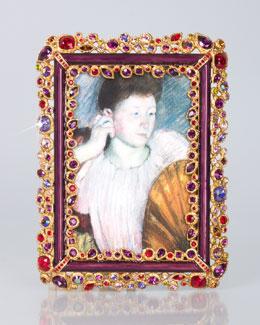 "Jay Strongwater Abelard Bejeweled 4"" x 6"" Frame"