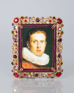 """Jay Strongwater Claudio Bejeweled 3"""" x 4"""" Frame"""
