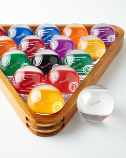 Personalized Pool Ball Set & Rack