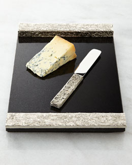 Michael Aram Block Cheese Board with Knife