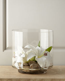 Faux Casablanca Lily in Glass Cylinder