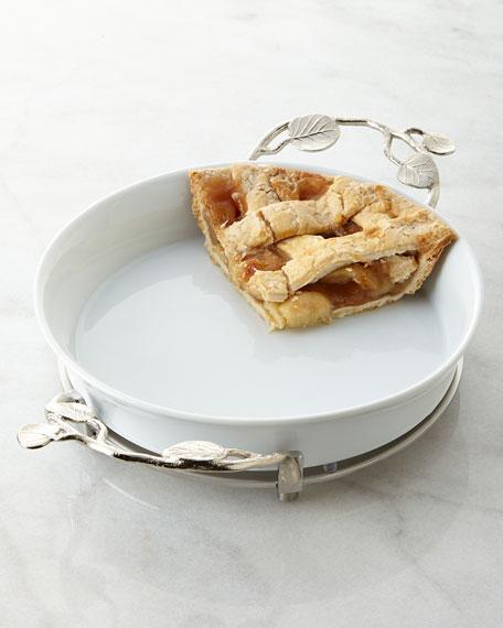 BOTANICAL LEAF PIE PLATE