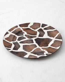 Four Giraffe Charger Plates