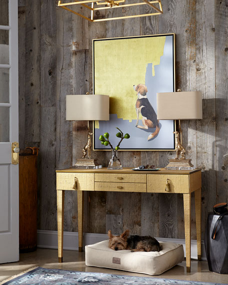 Left Regal Dog Table Lamp
