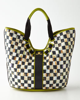 MacKenzie-Childs Courtly Check Large Tote
