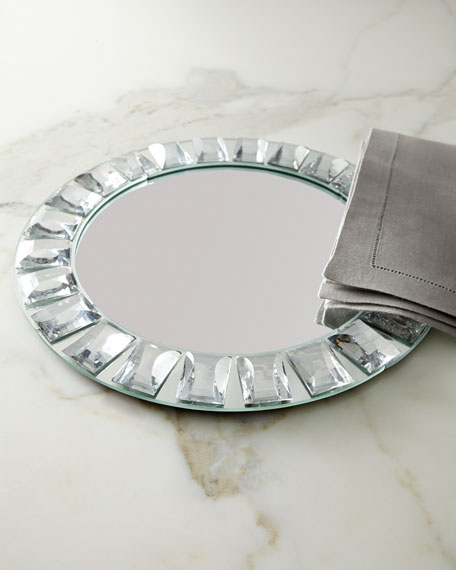 Jeweled Mirror Charger Plate