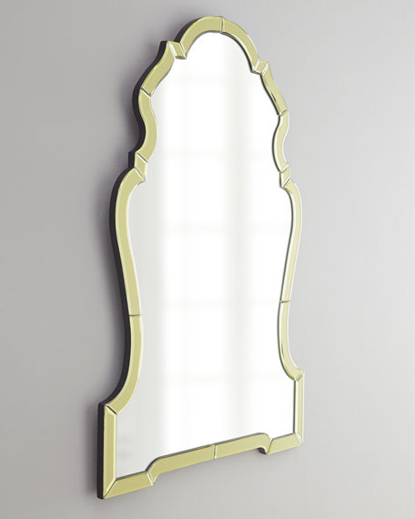 Golden Mirror-Framed Mirror