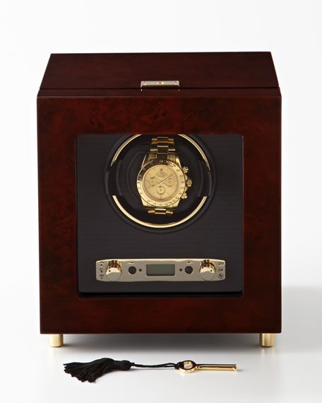 Burlwood Single Watch Winder