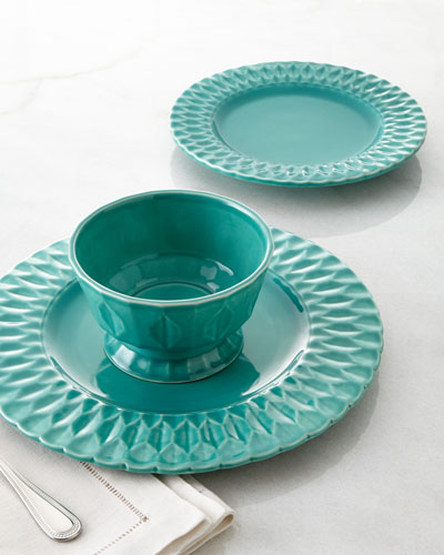 "NM EXCLUSIVE 12-Piece ""Quilted"" Dinnerware Service"
