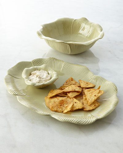 Petal Platter with Dipping Bowl