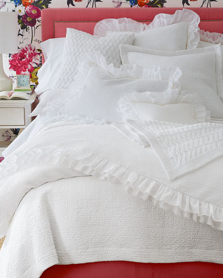 King Olivia Matelasse Coverlet