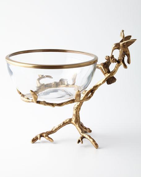 John-Richard Collection Brass & Glass Decorative Bowl